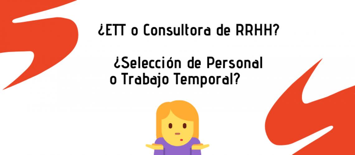 selección de personal o trabajo temporal